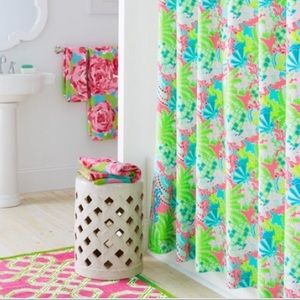 Lilly Pulitzer Checking in Blue Shower Curtain
